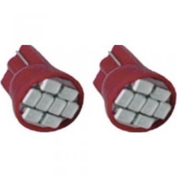4508010 LED AMPUL 12V T10 8 LED KIRMIZI