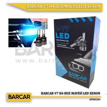 BARCAR V7 H4 BUZ MAVİSİ LED XENON