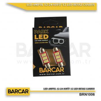 LED AMPUL 12-24 SOFİT 12 LED BEYAZ CANBUS