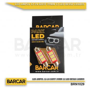 LED AMPUL 12-24 SOFIT 39MM 12 LED BEYAZ CANBUS