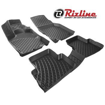 RİZLİNE Nissan    Micra  2011-2015 3D HAVUZLU PASPAS SİYAH