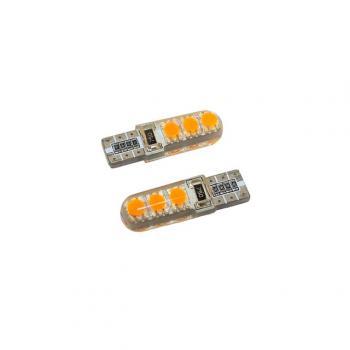 4508067 LED AMPUL 12V T10 12 LED TURUNCU SİLİKONLU